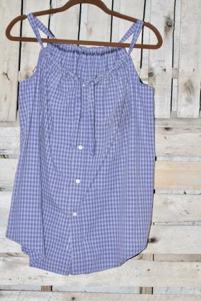 Blue checks sleeveless summertime perfect! Med/ Lg $30 BUY ME!