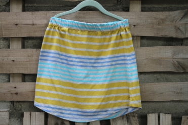 stripe skirt blue yellow Small $30 BUY ME!