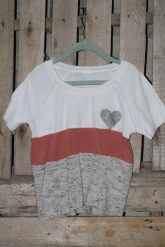 White, salmon and gray with a Sparkly Heart! 4T $30 BUY ME!