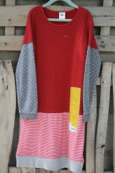 red top stripe bottom, gray polka dot sleeve Child size 10 $30 BUY ME!